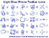 Light Blue iPhone Toolbar Icons Screenshot