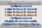 Screenshot of MiniLyrics