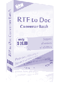 RTF TO DOC Converter Batch Screenshot