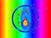 Rainbow Clock ScreenSaver Screenshot