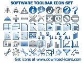 Software Toolbar Icon Set Screenshot