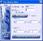 Start Button Editor Screenshot