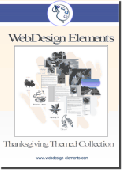 Screenshot of Thanksgiving Web Elements