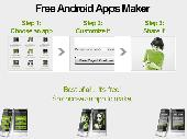 Free Android app maker Screenshot
