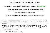 Guarantor Loans Application Screenshot