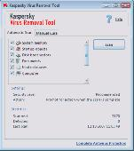 Kaspersky Virus Removal Tool 2009 Screenshot