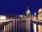 Night Moscow Screensaver Screenshot