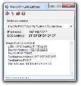 Wake-On-LAN Listener Screenshot