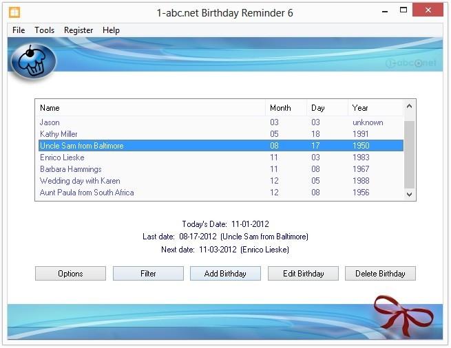 1-abc.net Birthday Reminder