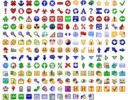 24x24 Free Button Icons