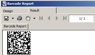 2D Data Matrix for i-net Clear Reports