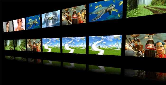 3D Photo Wall Screen Saver