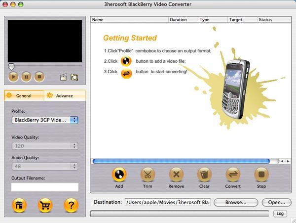3herosoft BlackBerry Video Converter for Mac