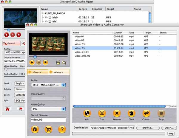 3herosoft DVD to Audio Suite for Mac