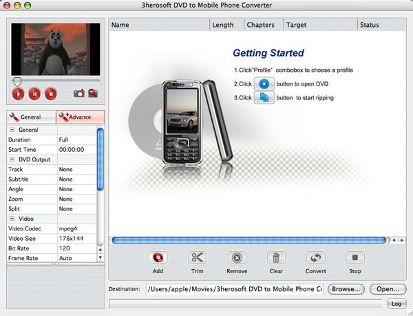 3herosoft DVD to Mobile Phone Converter for Mac