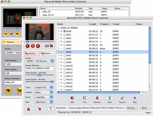 3herosoft DVD to Mobile Phone Suite for Mac
