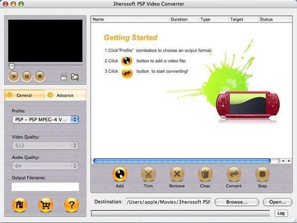 3herosoft PSP Video Converter for Mac