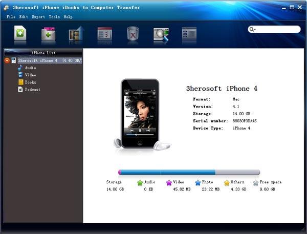3herosoft iPhone iBooks to Computer Transfer