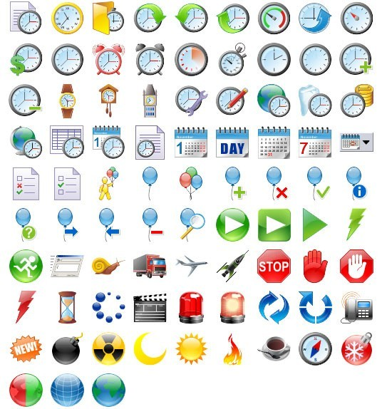 48x48 Free Time Icons