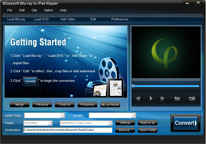 4Easysoft Blu-ray to iPad Ripper