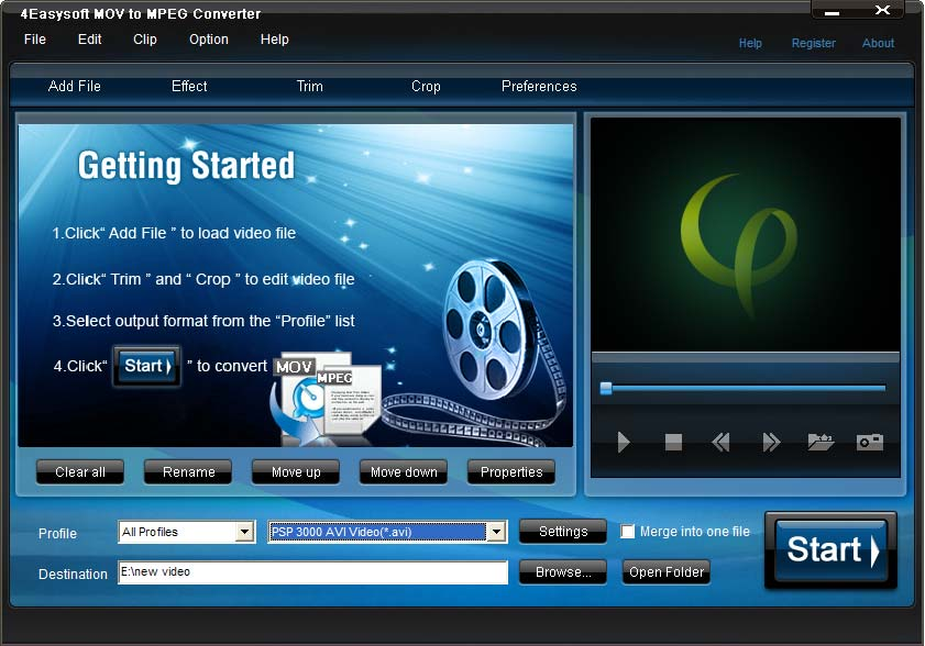 4Easysoft MOV to MPEG Converter
