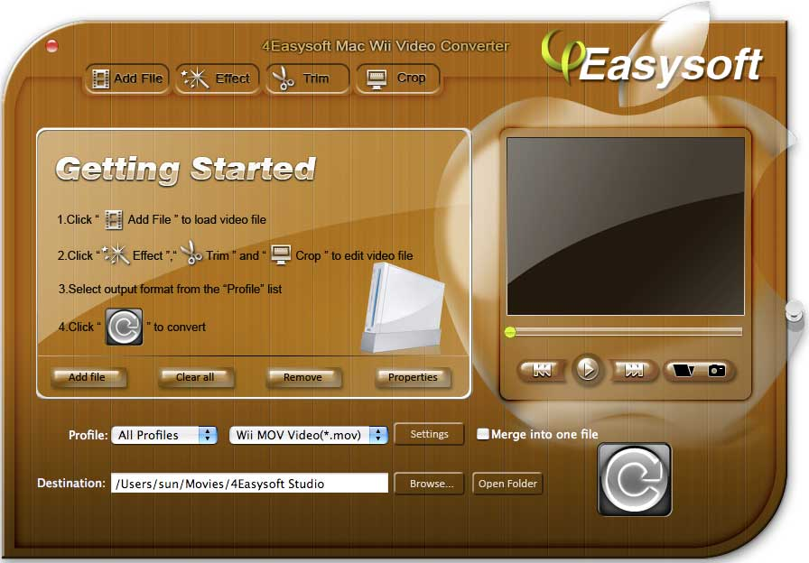 4Easysoft Mac Wii Video Converter