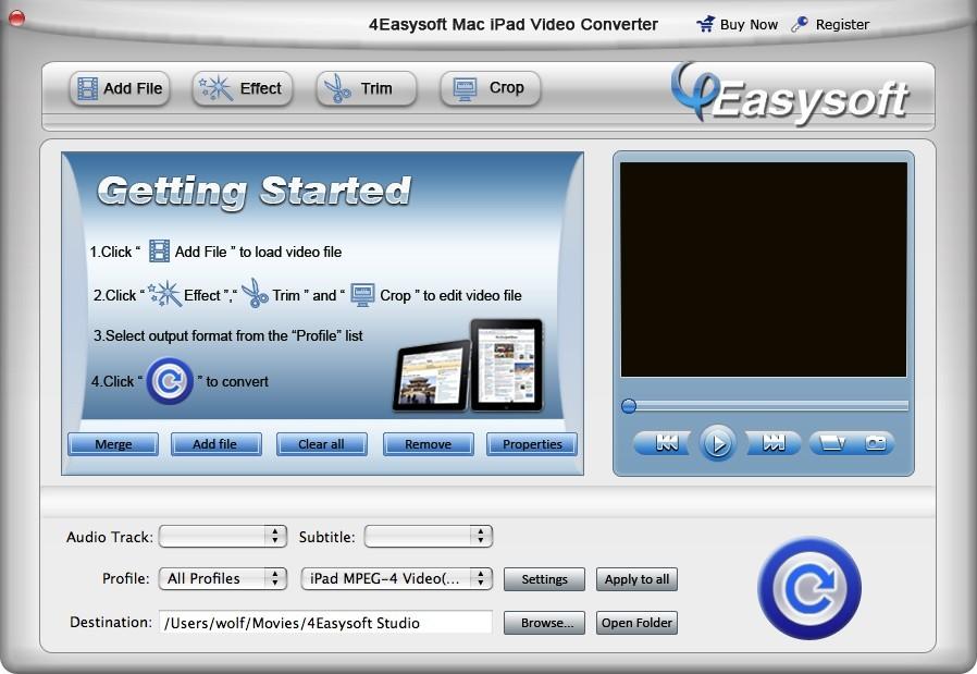 4Easysoft Mac iPad Video Converter