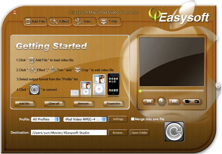 4Easysoft Mac iPod Video Converter