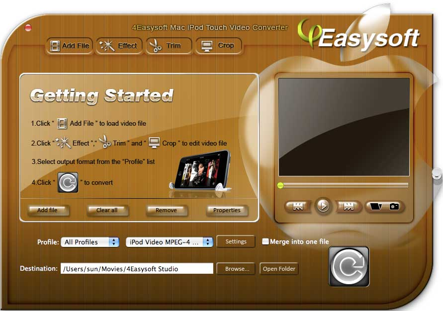 4Easysoft Mac iPod touch Video Converter