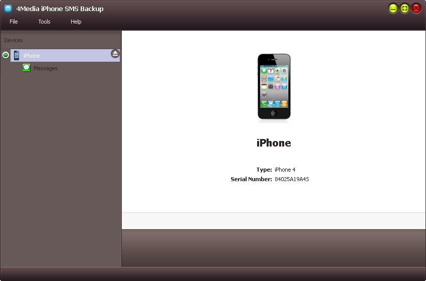4Media iPhone SMS Backup