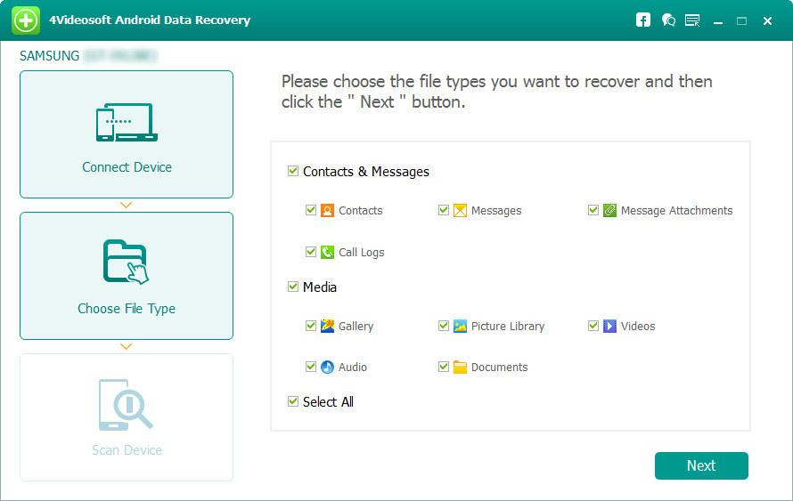 4Videosoft Android Data Recovery