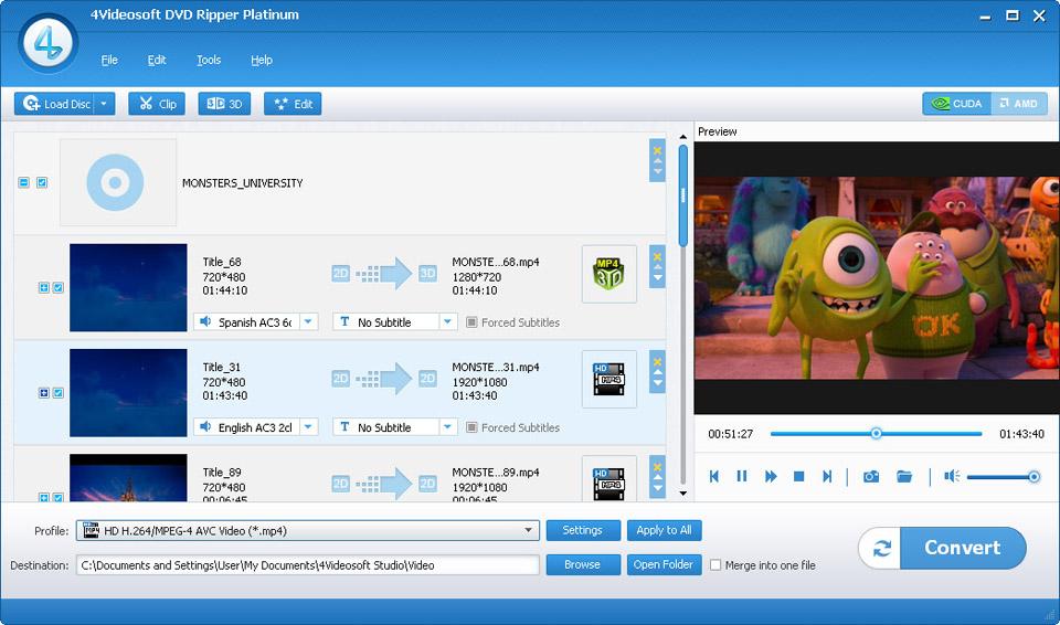 4Videosoft DVD Ripper Platinum