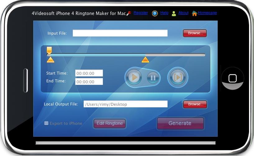 4Videosoft Mac iPhone 4 Ringtone Maker
