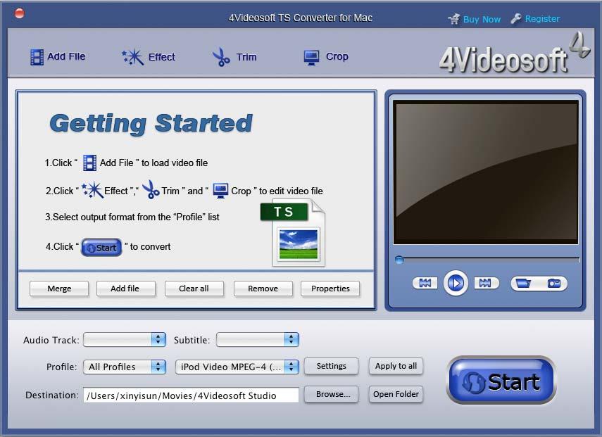 4Videosoft TS Converter for Mac
