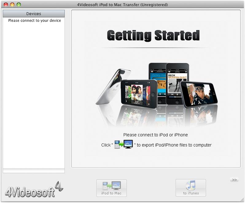 4Videosoft Transfert iPod Mac