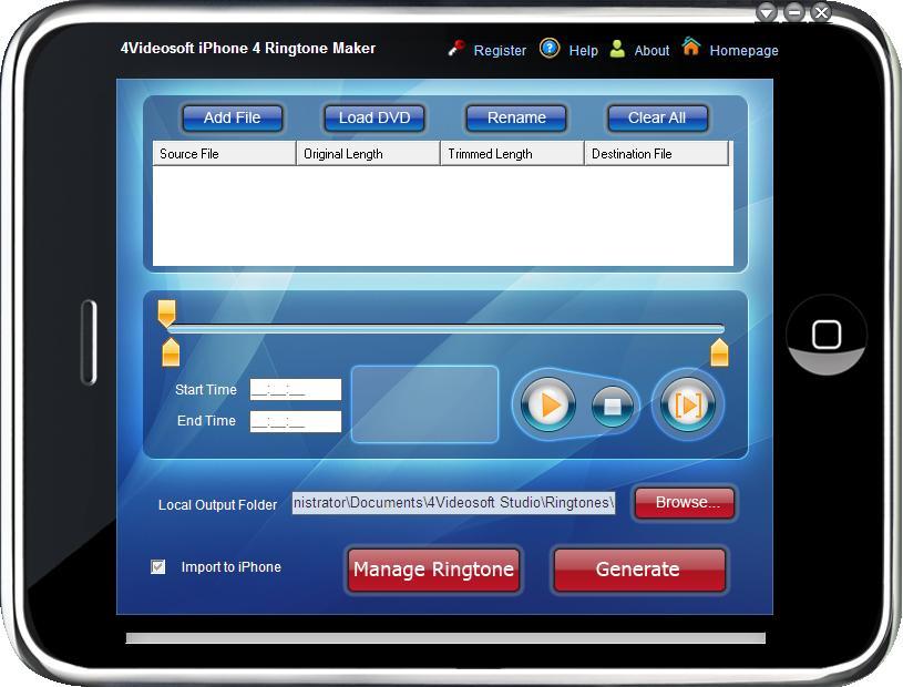 4Videosoft iPhone 4 Ringtone Maker