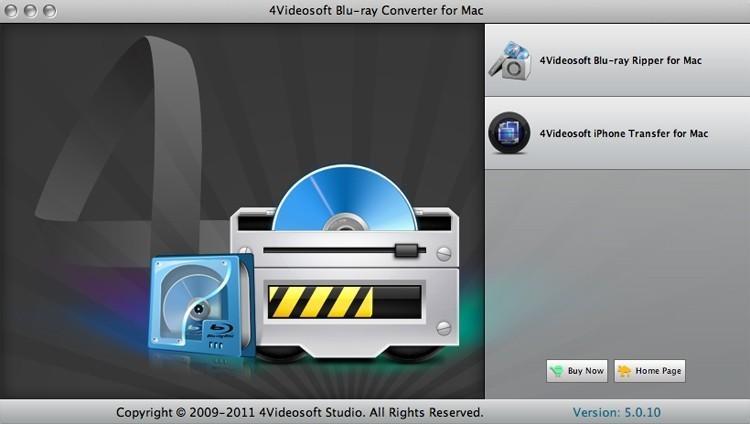 4Videsoft Blu-ray Converter for Mac