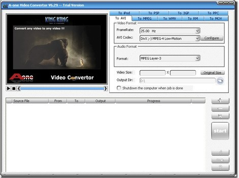 A-one WMV Video Converter