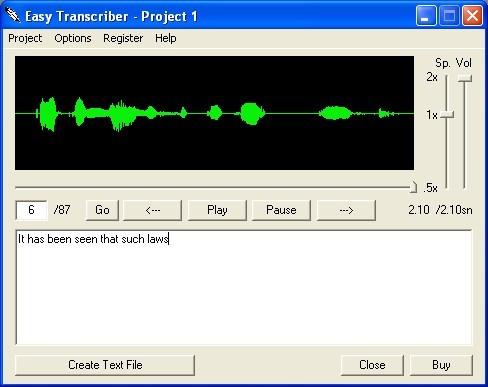 Easy Transcriber