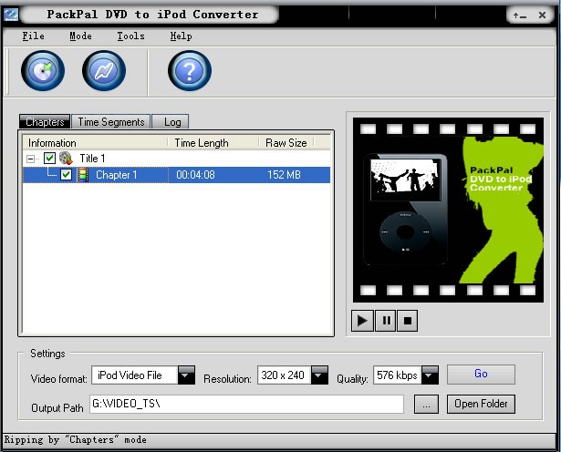 PackPal DVD to iPod Converter