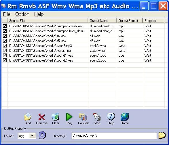 Rm Rmvb ASF Wmv Wma Mp3 Audio Converter