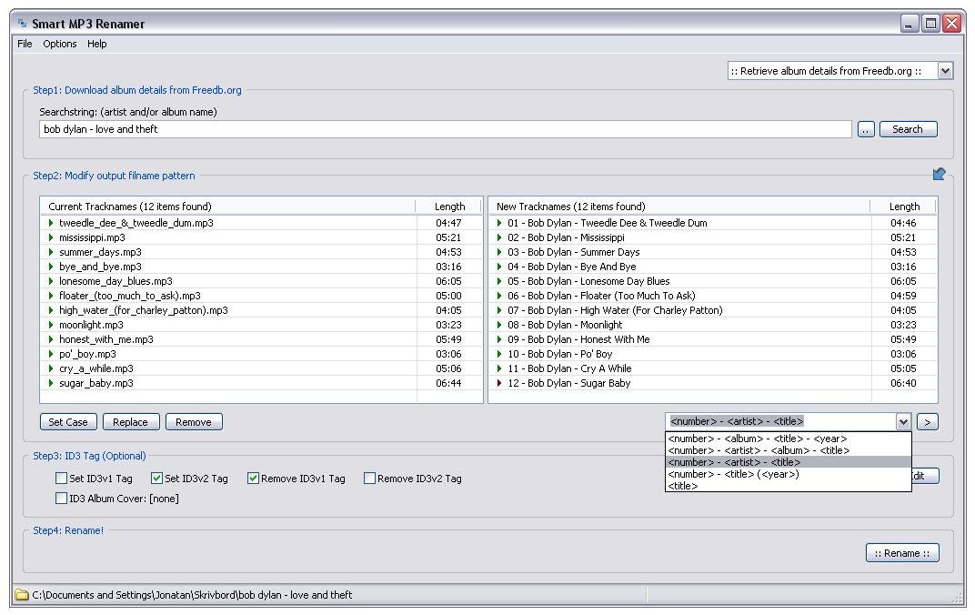 Smart MP3 Renamer