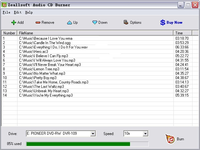 Zeallsoft Audio CD Burner