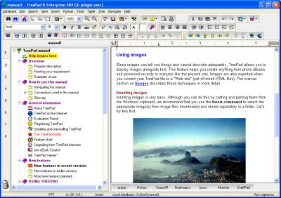 TreePad X Enterprise (12 Gb, single-user)