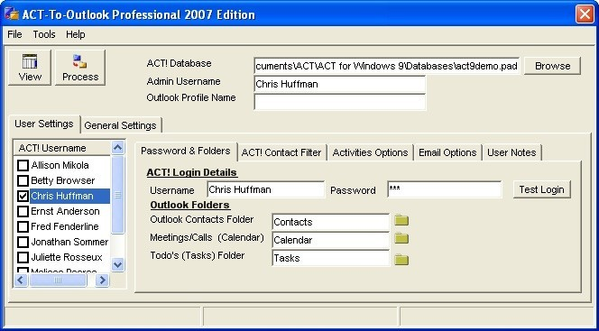 ACT-To-Outlook Professional - 2007