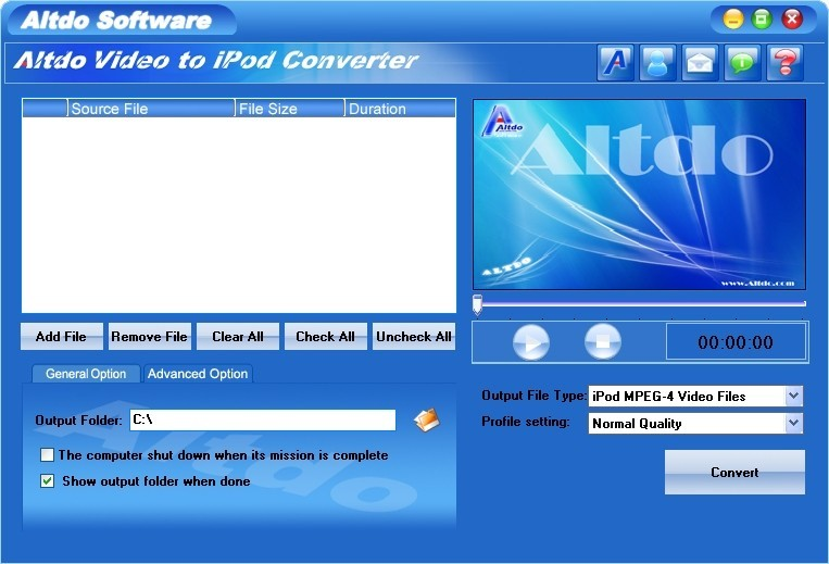 Altdo Video To iPod Converter
