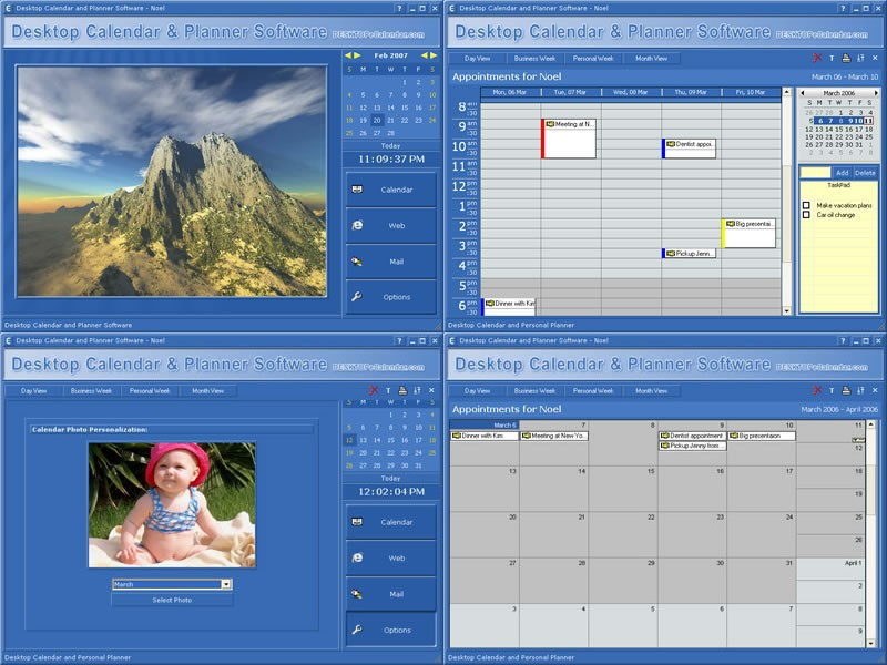 Desktop Calendar and Planner Software