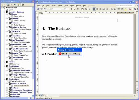 DocBuilder for Microsoft Word