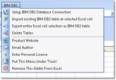 Excel IBM DB2 Import, Export & Convert Software