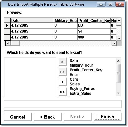 Excel Import Multiple Paradox Tables Software